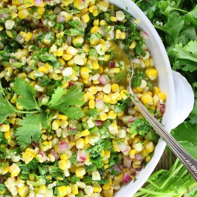 Jalapeno Cilantro Corn Salad
