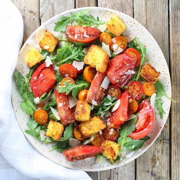 Heirloom Tomato Cornbread Salad Recipe