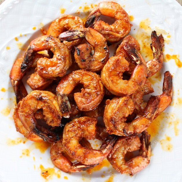Spicy Grilled Shrimp in a bowl