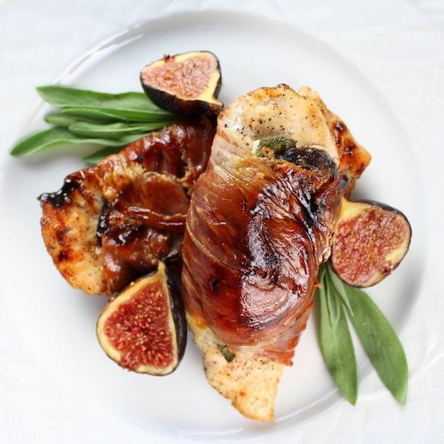 Chicken Fig Saltimbocca with fresh sage