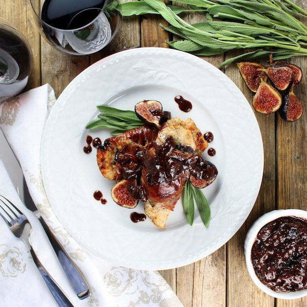 Chicken Fig Saltimbocca Plated