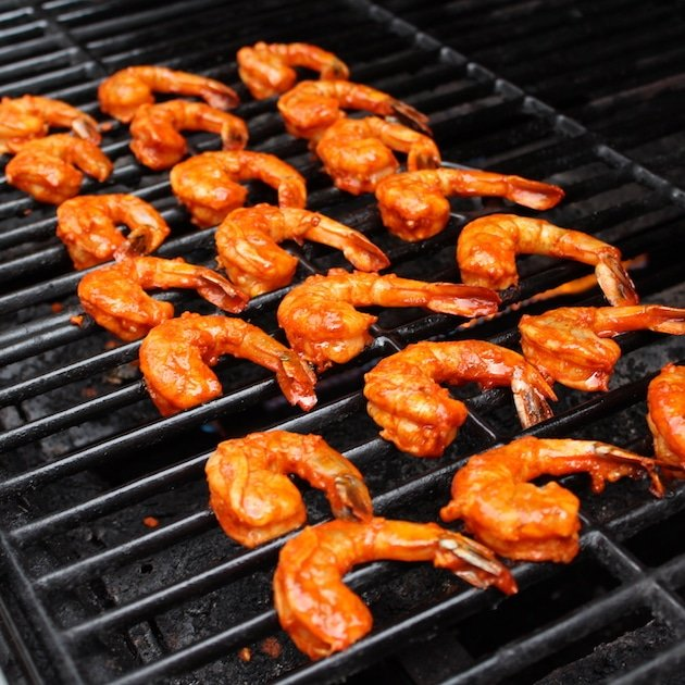 spicy shrimp grilling