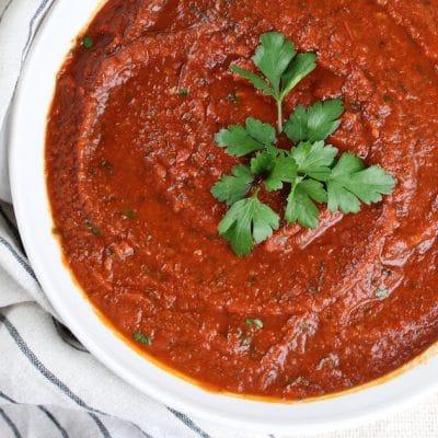 Hearty Homemade Marinara Sauce