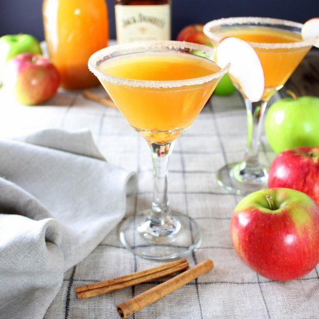 Apple Cider Honey Jack Martini