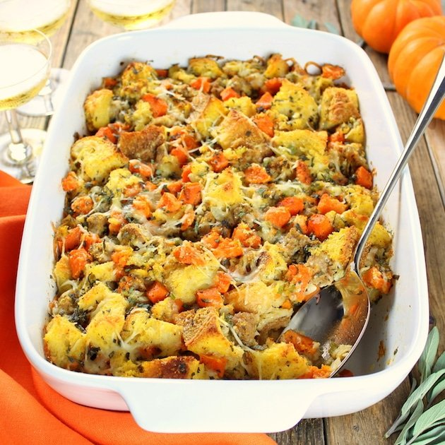 Stuffing with Butternut squash and sausage