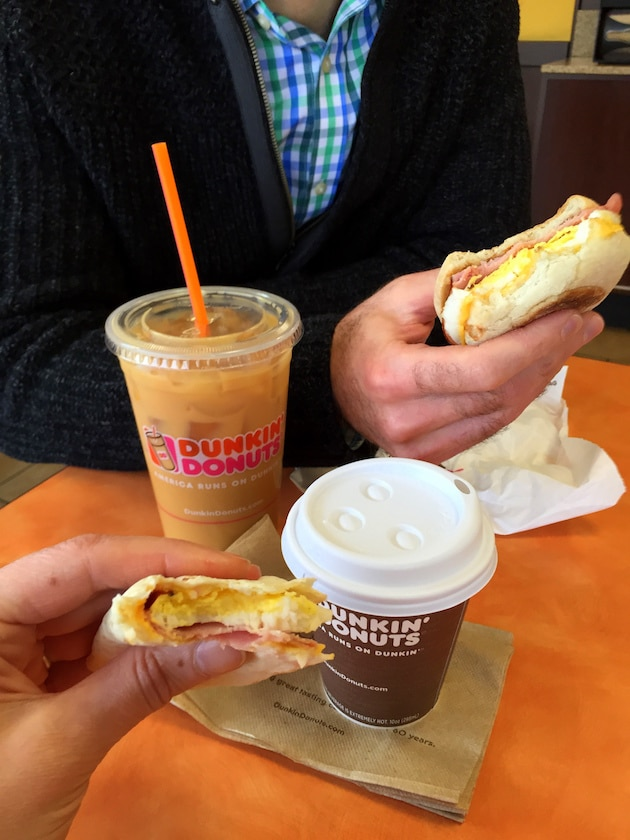 Dunkin' Donuts Salted Caramel with Breakfast! by Taste And See