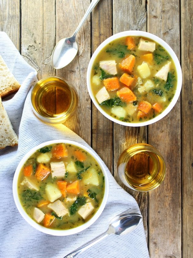 Kale and Butternut Squash Turkey Soup Recipe