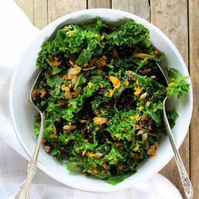 Orange Cranberry Kale Salad Recipe