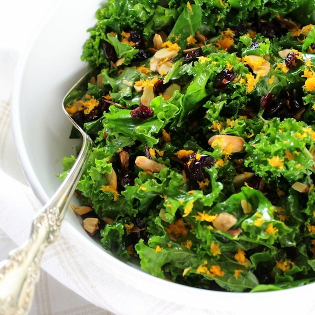A bowl of Kale Salad