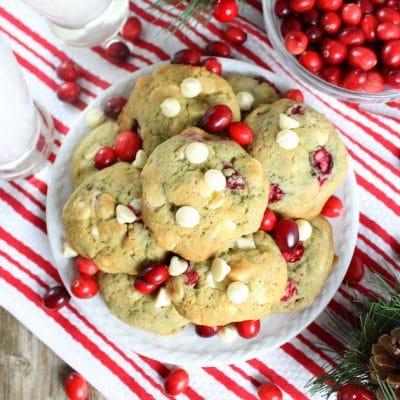 Cranberry Orange Cookies with White Chocolate Chips