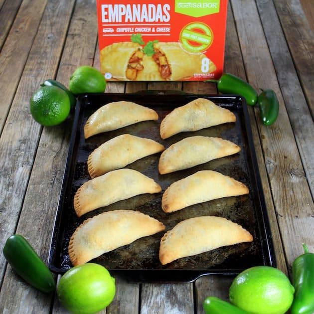 Chipotle Chicken and Cheese Empanadas