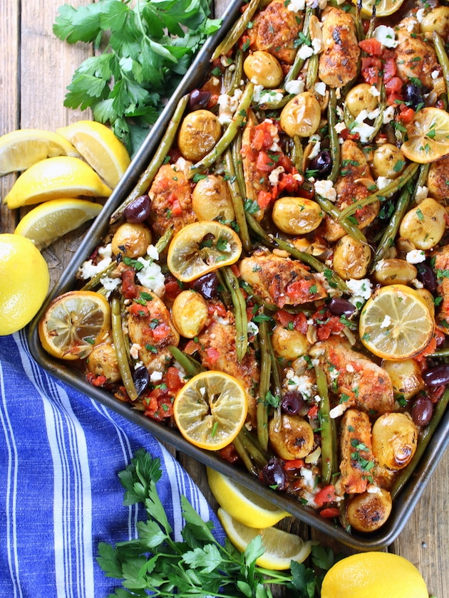 Greek Sheet Pan Dinner Recipe - Top 10 new Recipes From 2017