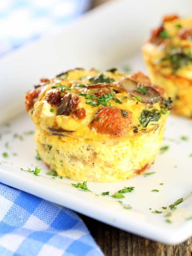 Healthy Kale Egg Breakfast Cups