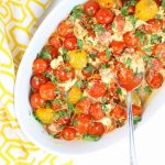 Baking dish with Tomatoes and Feta