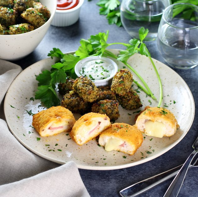 ... Quinoa Tots with Barber Foods Chicken Cordon Bleu Taste And See