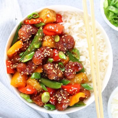 Sweet and Sour Shrimp Bowl
