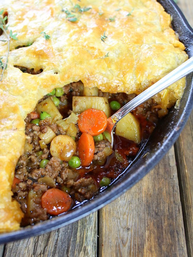 Cottage Beef Pot Pie with Potatoes and Parsnips Recipe