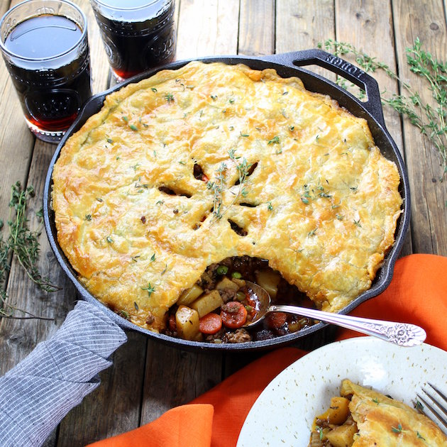 Cottage Beef Pot Pie with Potatoes and Parsnips Image