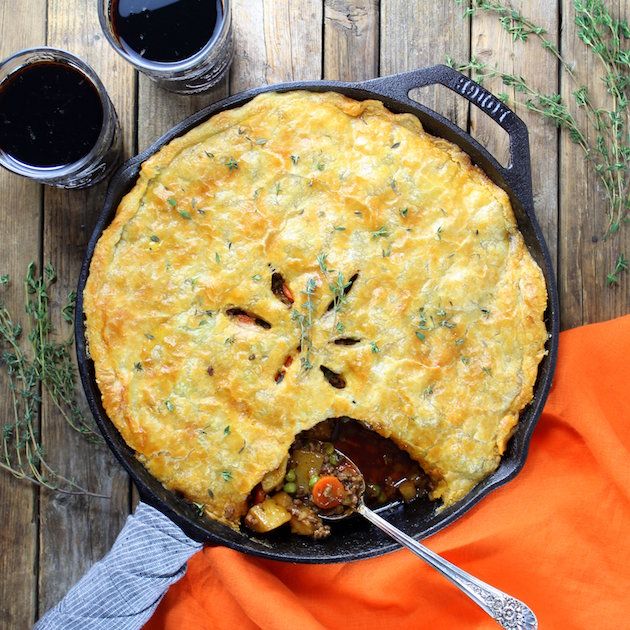 Cottage Beef Pot Pie with Potatoes and Parsnips Recipe - Image