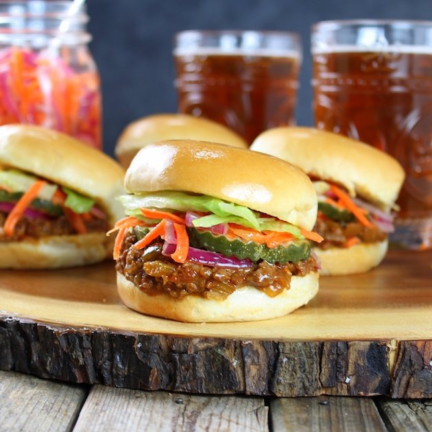Asian Sloppy Joes with Pickled Carrots and Onions Image