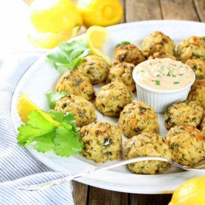 Healthy Tuna Cakes with Spicy Lemon Yogurt Sauce