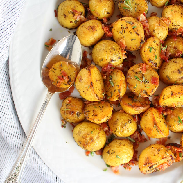 Smoky Salt and Vinegar Roasted Potatoes Recipe Image Cod Fillets and Salty Potato Recipe
