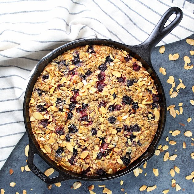 Triple Berry Blender Cake Recipe Image Gluten Free Oat-Based Cake