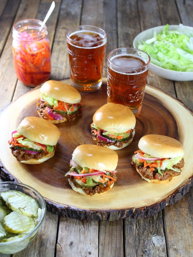 Asian Sloppy Joes with Pickled Carrots and Onions Images