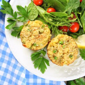 Healthy Tuna Casserole Muffins - More Easy Weeknight Dinners!
