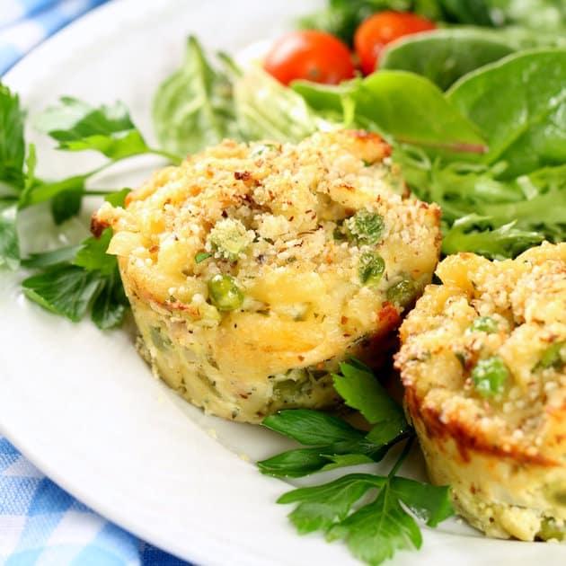 Healthy Tuna Casserole Muffins - Healthy, Easy Weeknight Dinner