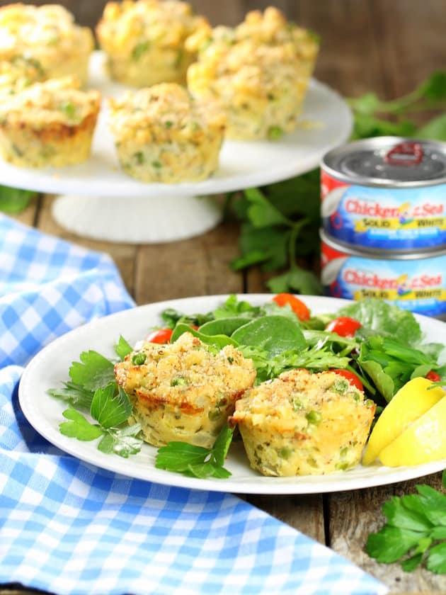 Healthy Tuna Casserole Muffins Image - Healthy, Easy Weeknight Dinner