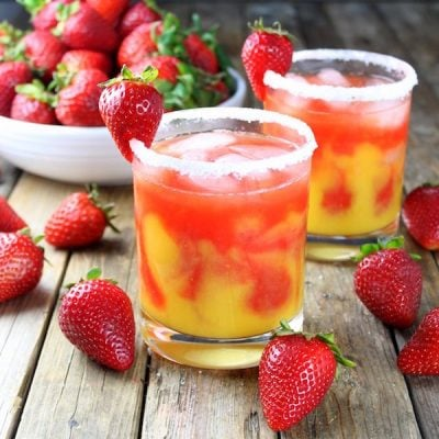 Honey Mango Strawberry Margarita