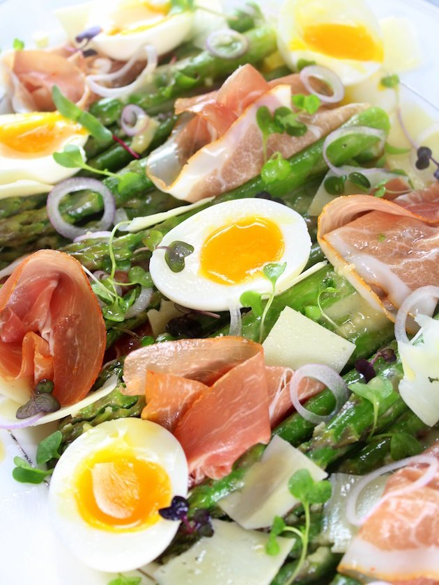 Asparagus Salad with Prosciutto, Eggs and Dijon ...