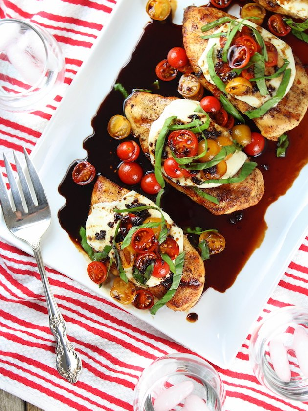 Grilled Chicken Caprese with Balsamic Sauce Image - a healthy grilled recipe!