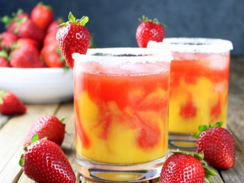 Honey Mango Strawberry Margarita Taste And See