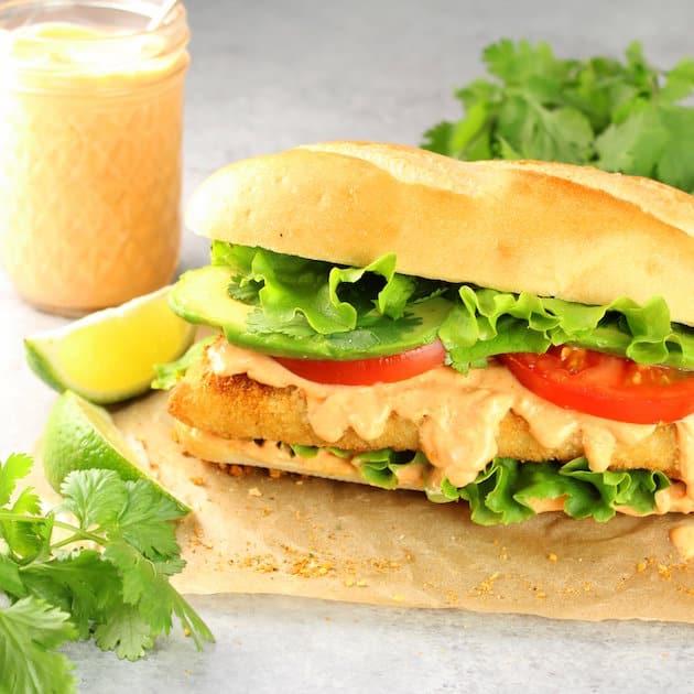Zesty Baja Fish Sandwich