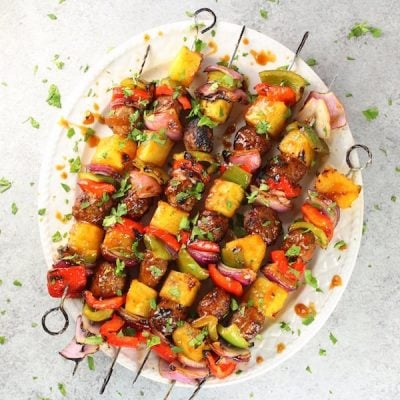 Teriyaki Chicken Meatball Kabobs