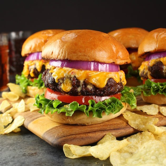 Easy Pimento Cheese and Bacon Burger Image and Recipe