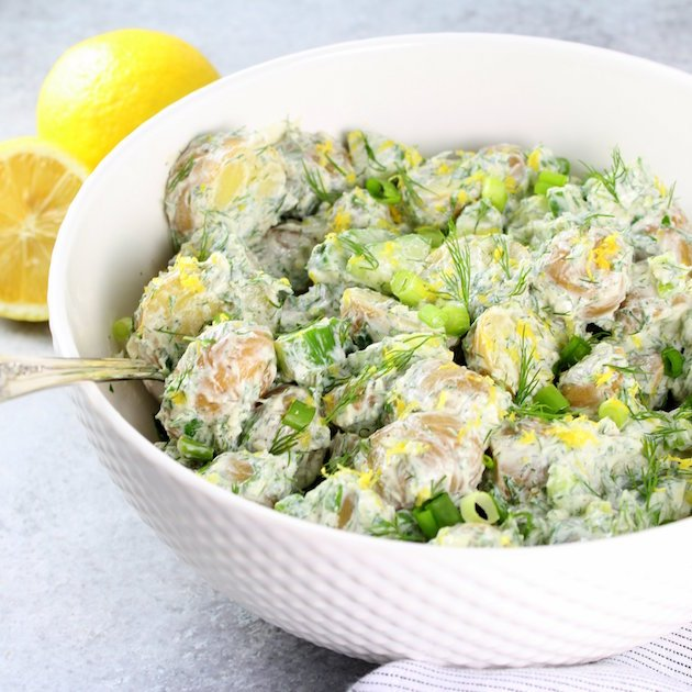Greek Tzatziki Potato Salad Recipe Image