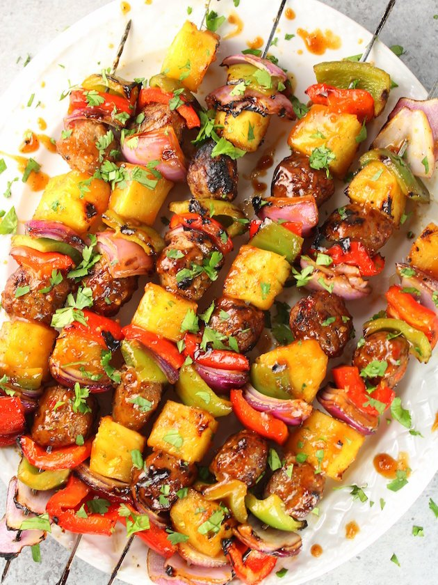 Teriyaki Chicken Meatball Kabobs Taste And See