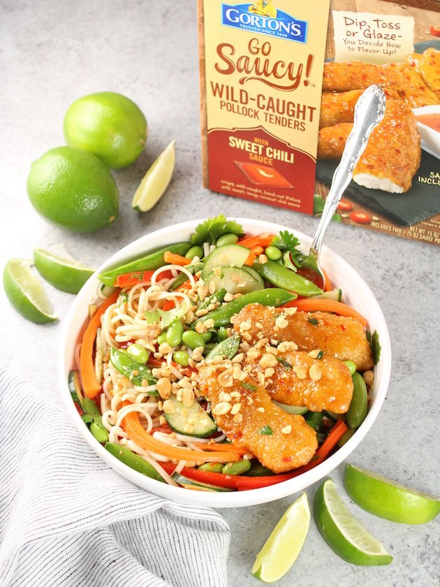 Thai Sweet Chili Fish Bowl A healthy veggie bowl recipe image