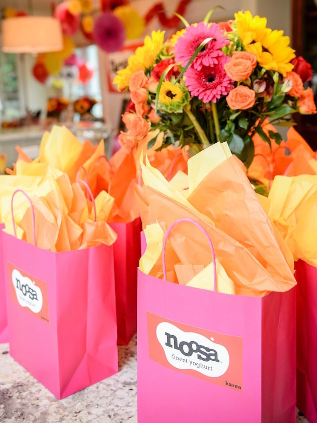 Pink hostess gift bags