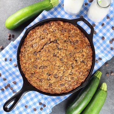 Chocolate Chip Zucchini Skillet Cake Recipe