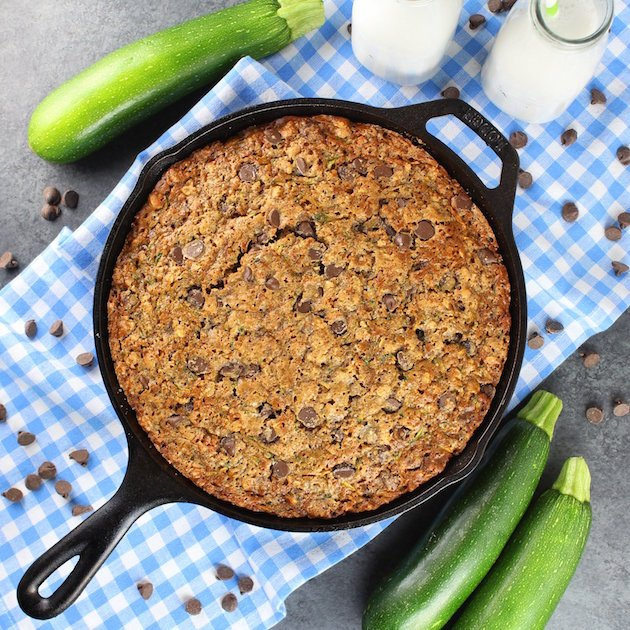 Chocolate Chip Zucchini Skillet Cake Recipe