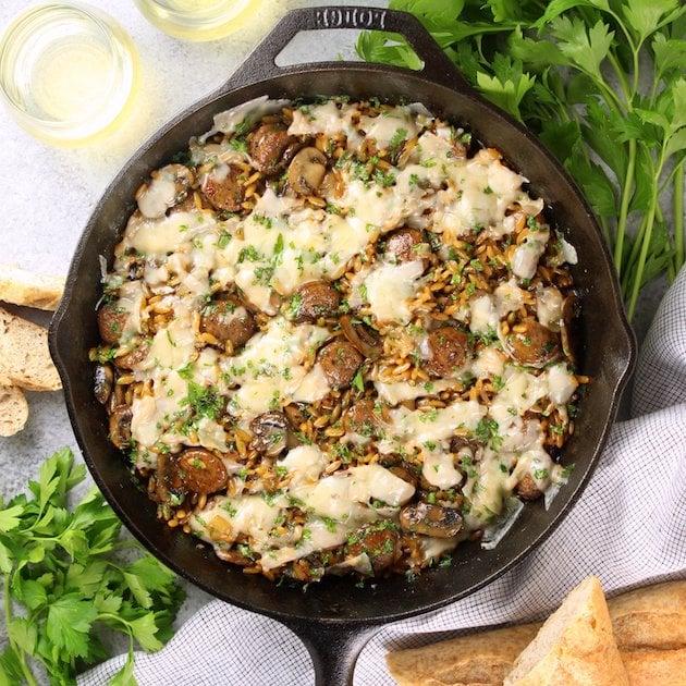 Marsala Chicken Orzo Skillet