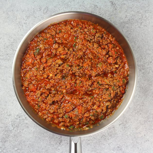 Meat sauce for stuffing park