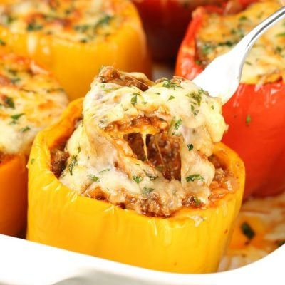 Baked Lasagna Stuffed Peppers