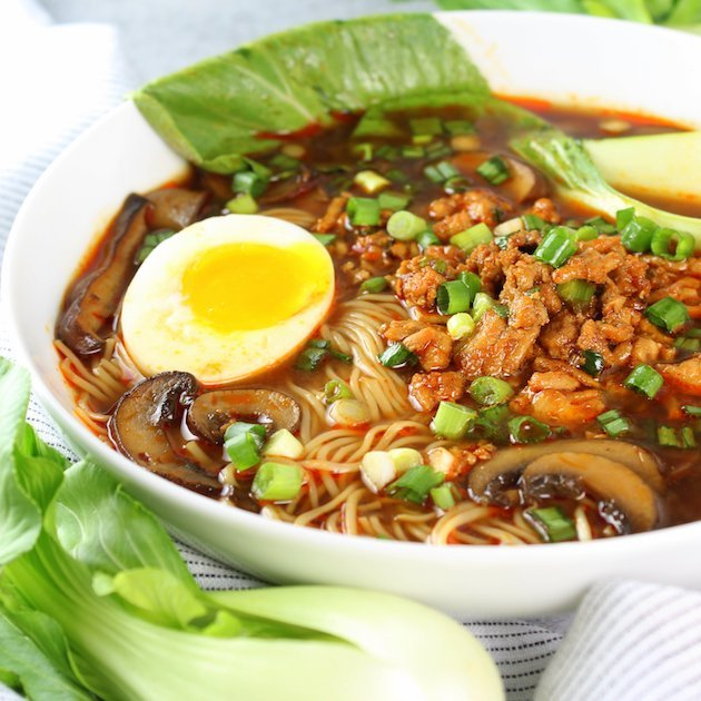 Easy Chicken Miso Ramen Image and Recipe Bowl EL