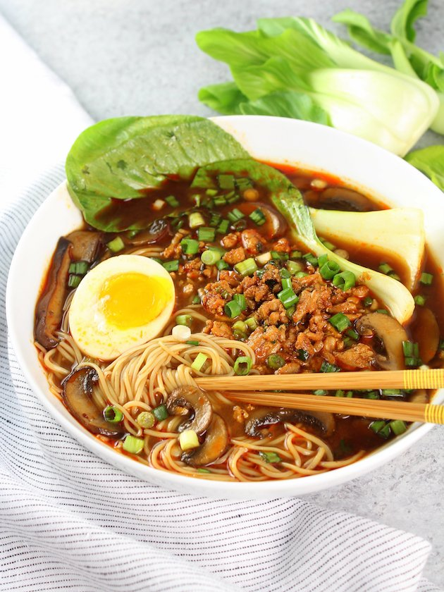 Easy Chicken Miso Ramen Image and Recipe Bowl