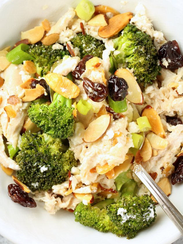 Chicken Broccoli Casserole with Cherries and Almonds Image and Recipe Tight OT